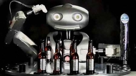Mr. Asahi: el Primer Robot Bartender del Mundo Asahi-beer-robot