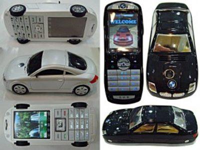Un telefono movil con forma de coche!