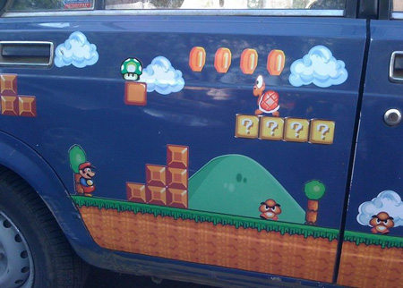 el auto de supermario bros. Black Bedroom Furniture Sets. Home Design Ideas